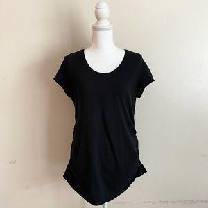 Liz Lange Maternity Black Short Sleeve T-Shirt